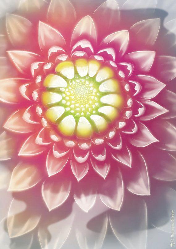 Purple Flower Art  Sunflower Original art Original by ShamVanDamn