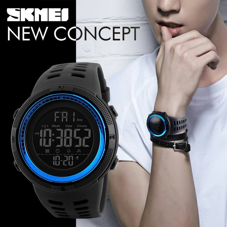 SKMEI Famous Luxury Brand Mens Sport Watches Chrono Countdown Men Waterproof Digital Watch military Clock Fashion Relojes Hombre  Price: 6.77 USD