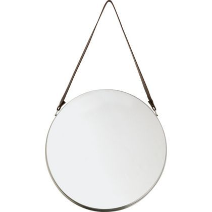 Oval Mirror with Leather Strap