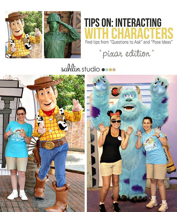 Disney Character Interaction and Photo Tips: Pixar Characters