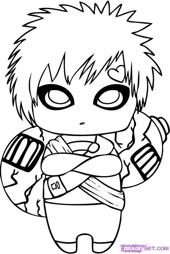 Chibi Naruto Coloring Pages