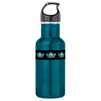 Miss America Aqua Crown Pexagon Water Bottle - home gifts ideas decor special unique custom individual customized individualized