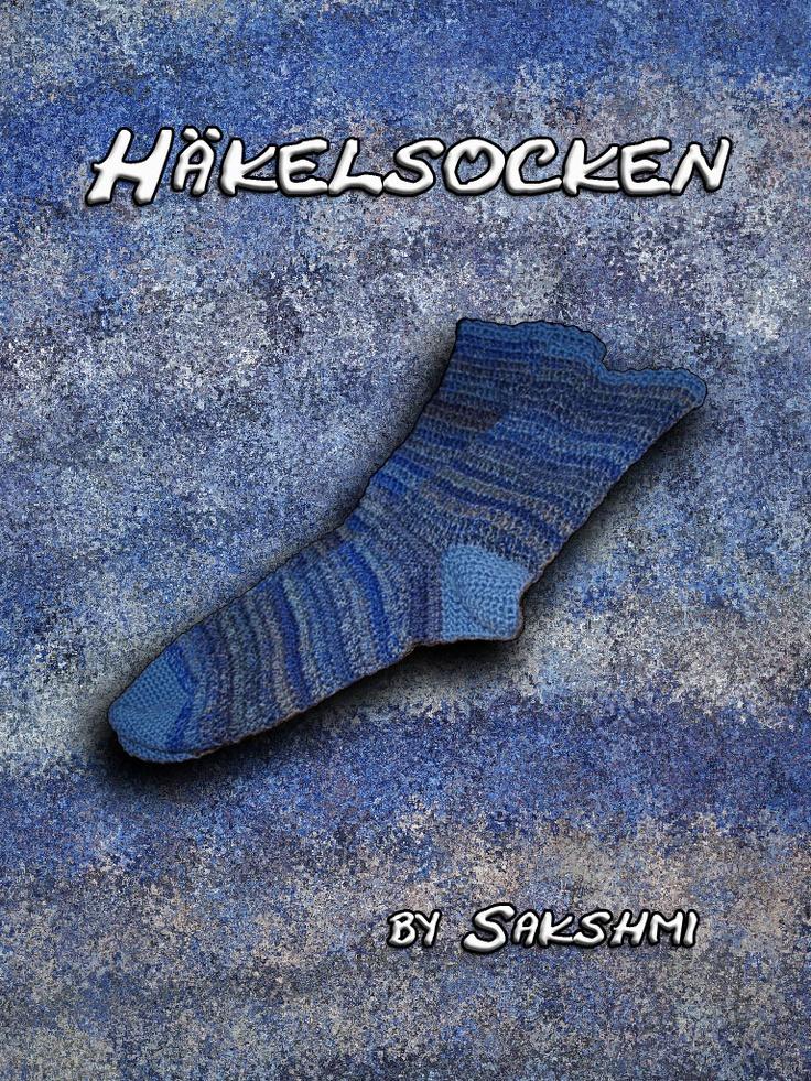 Häkelsocken, gehäkelte Socken, Anleitung