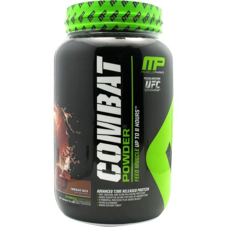 Muscle Pharm Combat Protein Powder Chocolate (Brown) Milk 2 lbs