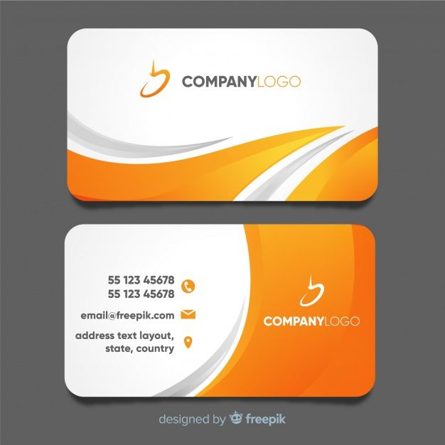 Modern Business Card Template With Abstract Design Free Vector Free Vector Freepi Modern Business Cards Modern Business Cards Design Business Cards Creative