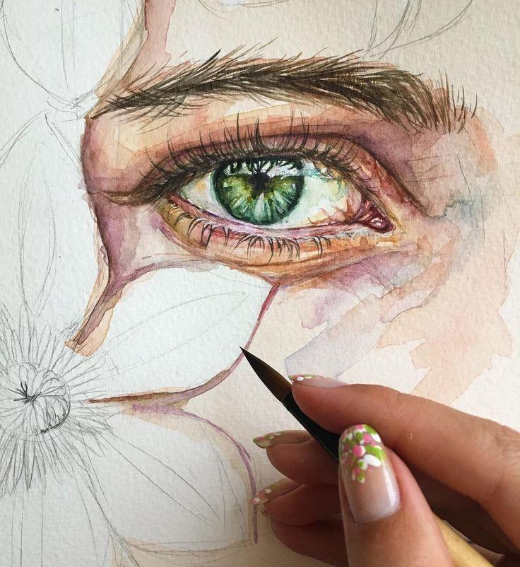 Иногда хочется оставить рисунок на стадии процесса ☺️#скетч #рисунок #глаза #зеленыеглаза #скетчбук #живопись #акварель #арт #иллюстрация #процесс #детали #inspiring #illustration #watercolopainting   Формат данного скетчбука превращает его не просто в блокнот, а в альбом эмоций, воспоминаний и событий. Мне аж даже захотелось выпустить свой  Спасибо @maxgoodz
