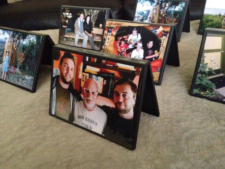 Repurposing old DVD cases into landscaping photo frames. Two sided too so you can rotate occasionally to display alternate images. Hint hint: The in laws are visiting so you rotate the photos to display their side of the family.