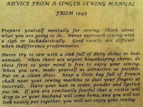 Advice From a Singer Sewing Manual From 1949