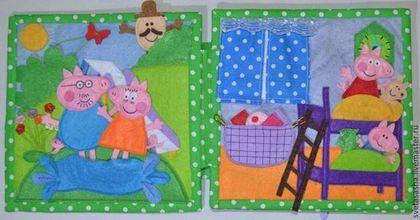Educatief speelgoed handgemaakt.  Ontwikkelingsstoornissen boek van vilt.  Svetlana.  Shop Online Fair Masters.  Vilt voor kinderen Developmental boek