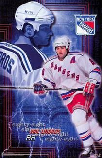 """Eric Lindros """"Eighty-Eight"""" New York Rangers Poster - Starline 2001"""