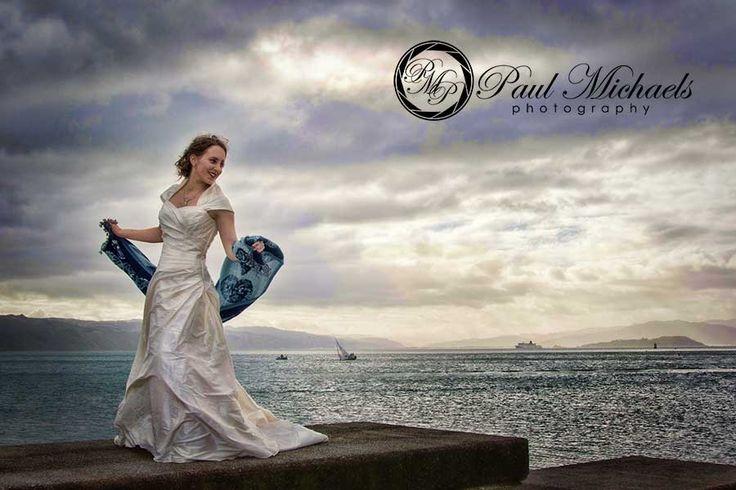 Tali at Oriental beach, wellington. New Zealand #wedding #photography. PaulMichaels of Wellington http://www.paulmichaels.co.nz/