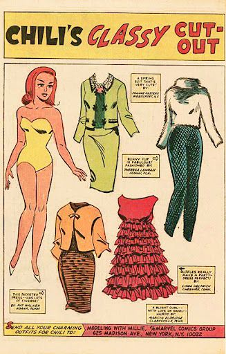 1966 Modeling With Millie paper doll of Chile / picasaweb.google.com