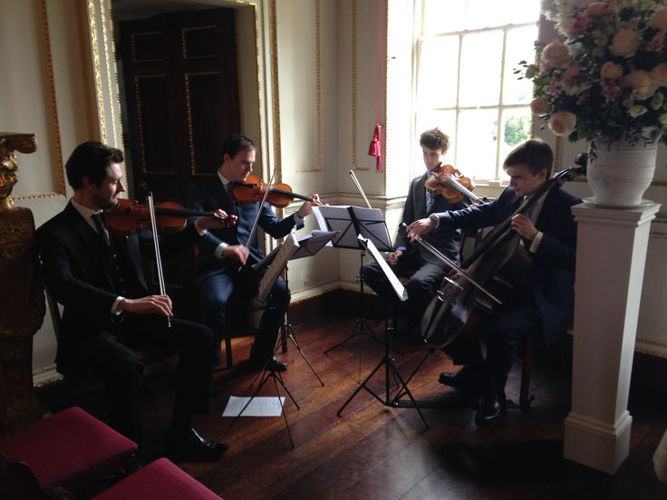 String Quartet Playing Background Classical Music For Wedding In Marble Hill House Twickenham