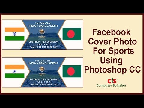 How to Create Facebook Cover Photo For Sports Using Photoshop CC - (More Info on: http://LIFEWAYSVILLAGE.COM/videos/how-to-create-facebook-cover-photo-for-sports-using-photoshop-cc/)