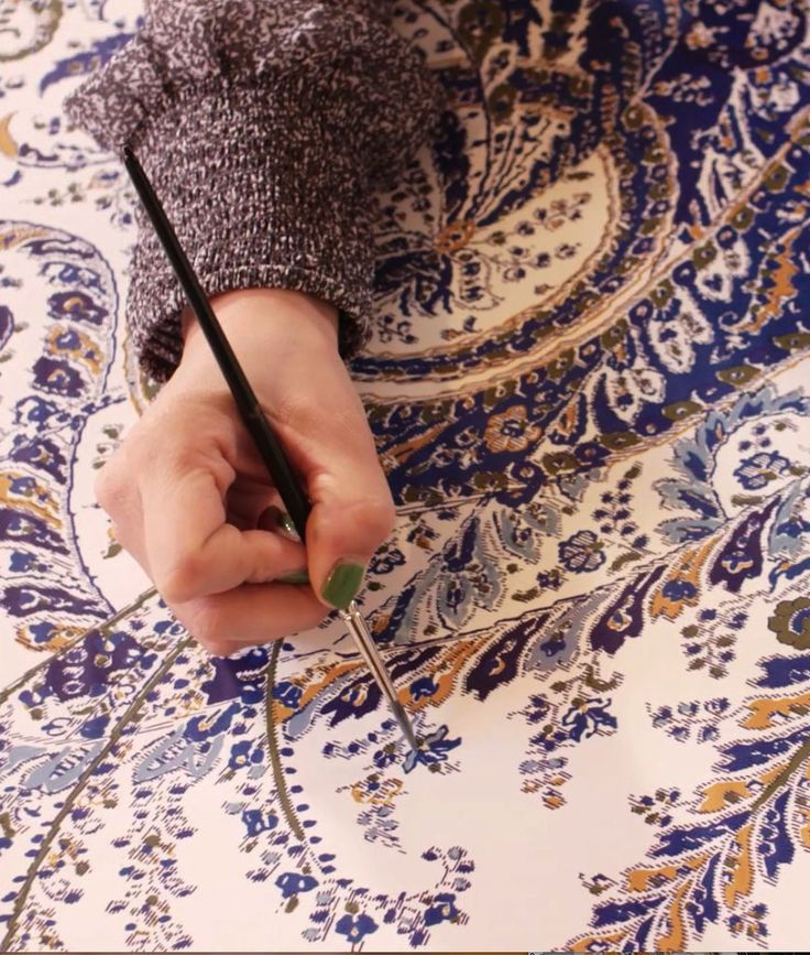 Each of our new paisley patterns are drawn carefully by hand, then digitally blown up and adjusted for scale, and then fine-tuned by hand once more before printing.