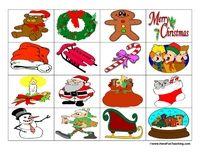 Christmas BINGO: This Christmas BINGO comes with 25 Student Christmas BINGO Boards, 23 Teacher Bingo Cards, and 32 Red and Green Dobbers. Information: Christmas Theme BINGO, Christmas Bingo Game, Christmas Bingo Activity