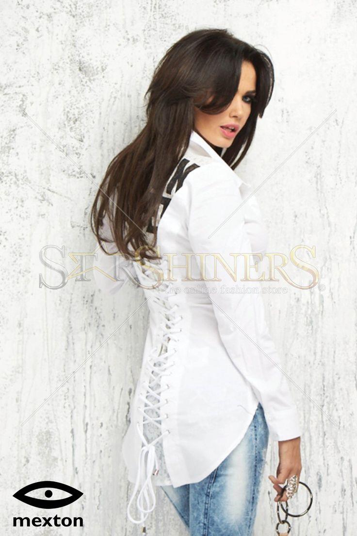Mexton Trickster Back White Shirt