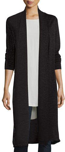 2b82ed6484f Eileen Fisher Washable Wool Kimono Duster Cardigan