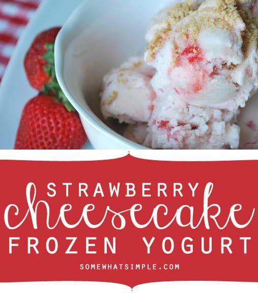 Strawberry Cheesecake Frozen Yogurt Recipe