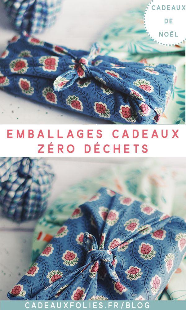 Emballages cadeaux Zéro Déchets pour Noël 2019