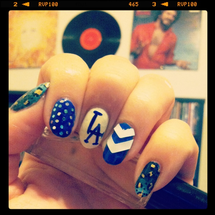 Los Angeles Nail Salon Layouts: 17 Best Ideas About Dodger Nails On Pinterest