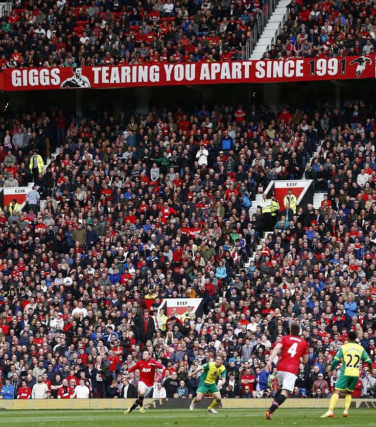 banner for Manchester United interim manager Ryan Giggs