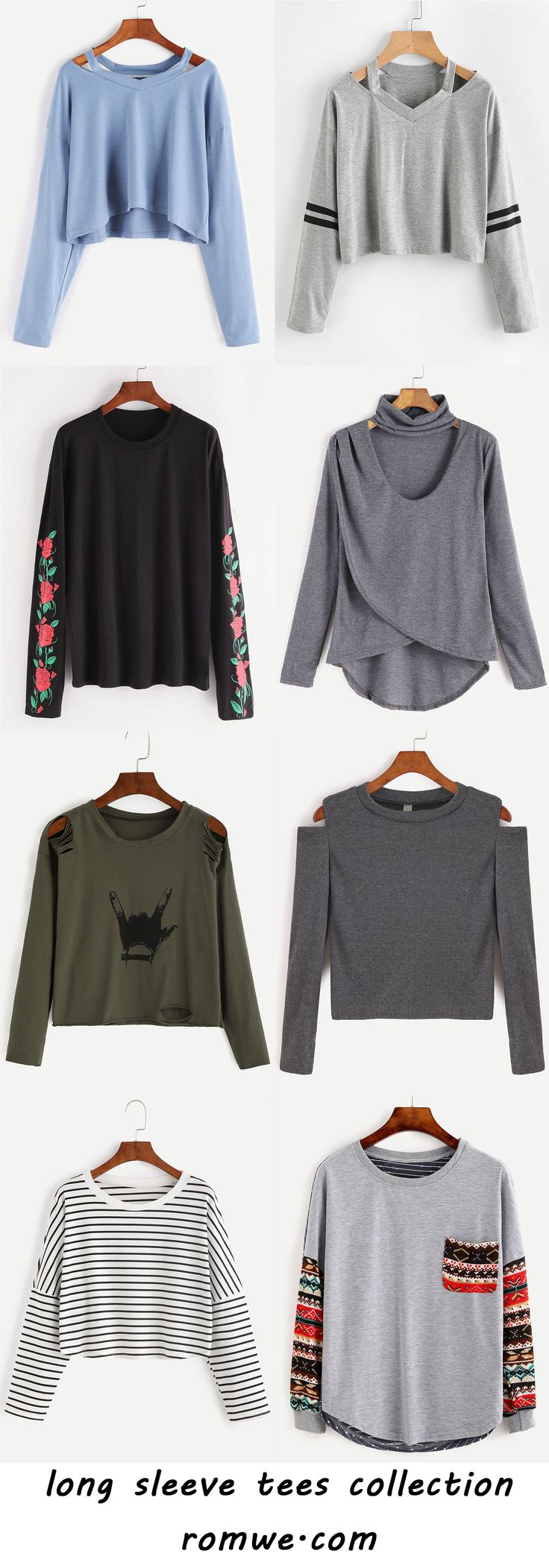 long sleeve tees collection 2017 - romwe.com