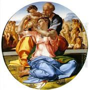 The Holy Family with the Infant John the Baptist (or The Don...  by Michelangelo Buonarroti