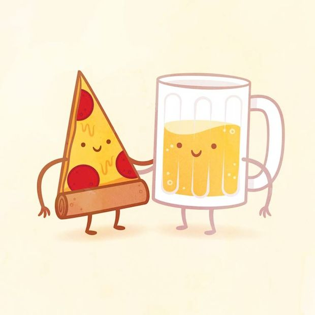 Parejas culinarias convertidas en divertidas ilustraciones