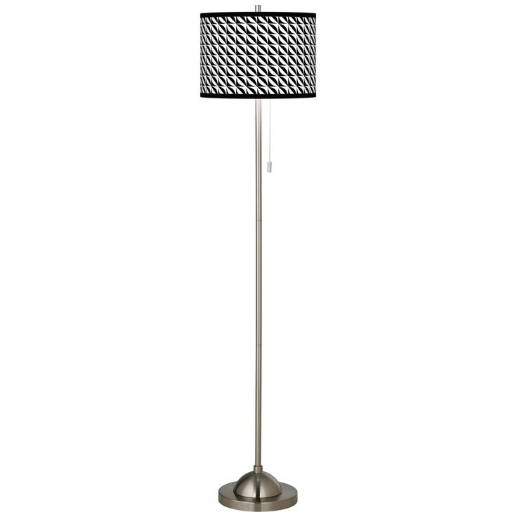 Waves Brushed Nickel Pull Chain Floor Lamp - Style # 99185-1H054