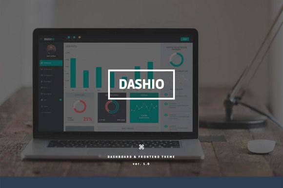 Check out DASHIO - Dashboard & Frontend Theme by Alvarez Themes on Creative Market