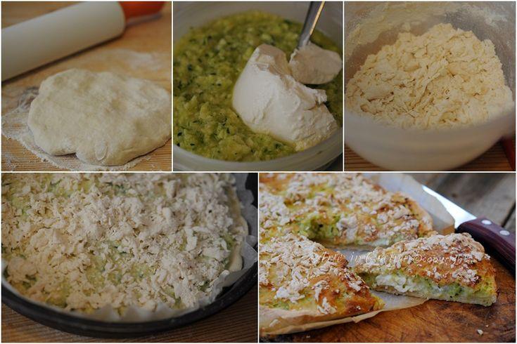 Sbriciolata salata con patate e zucchine veloce, piatto unico veloce da realizzare, patate e zucchine crude, torta salata con ricotta e verdure, senza lievito