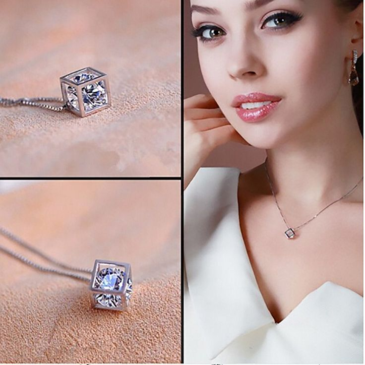 New Trendy Fashion Magic Cube Necklace Pendant Chain Vogue Charming Jewelry