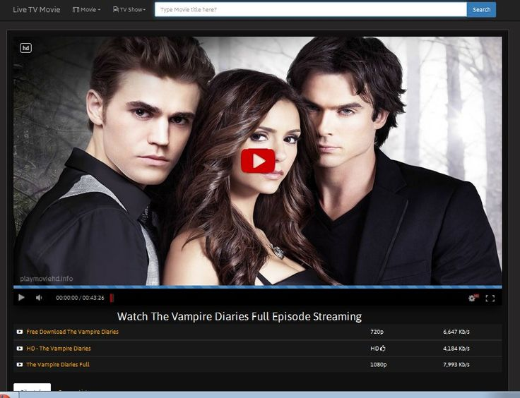 Watch http://playmoviehd.info/tv/18165/the-vampire-diaries.html The Vampire Diaries Full Episode Streaming