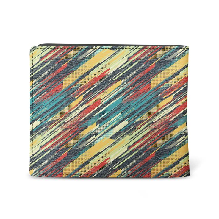 Men's slim vegan leather wallet retrovintage design slim wallet - 80's Sweater