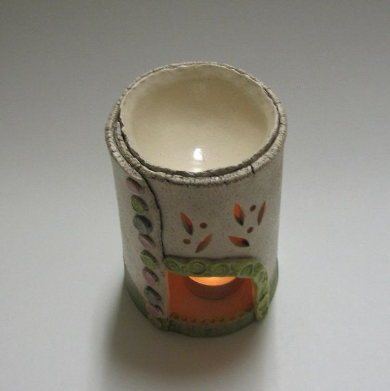 Aromatherapy Oil Burner and Candle holder with by TikaCeramics