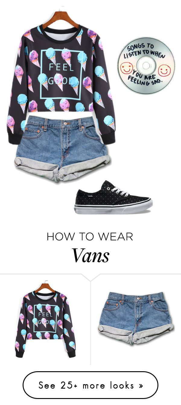 """""""Untitled #335"""" by bagelgoddess on Polyvore featuring Vans and Sharpie"""