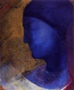 The Golden Cell  (The Blue Profile) 1892 - Odilon Redon - www.odilon-redon.org