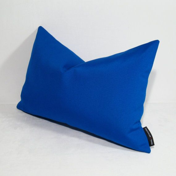 Cobalt Blue Pillow Cover, Decorative Blue Outdoor Pillow, Modern Throw Pillow, Masculine Pillow ...