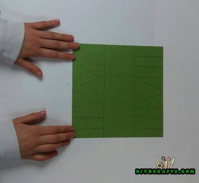 1. lépés - Itt van hogyan készítsünk egy szép húsvéti kosár ... Out of Paper!
