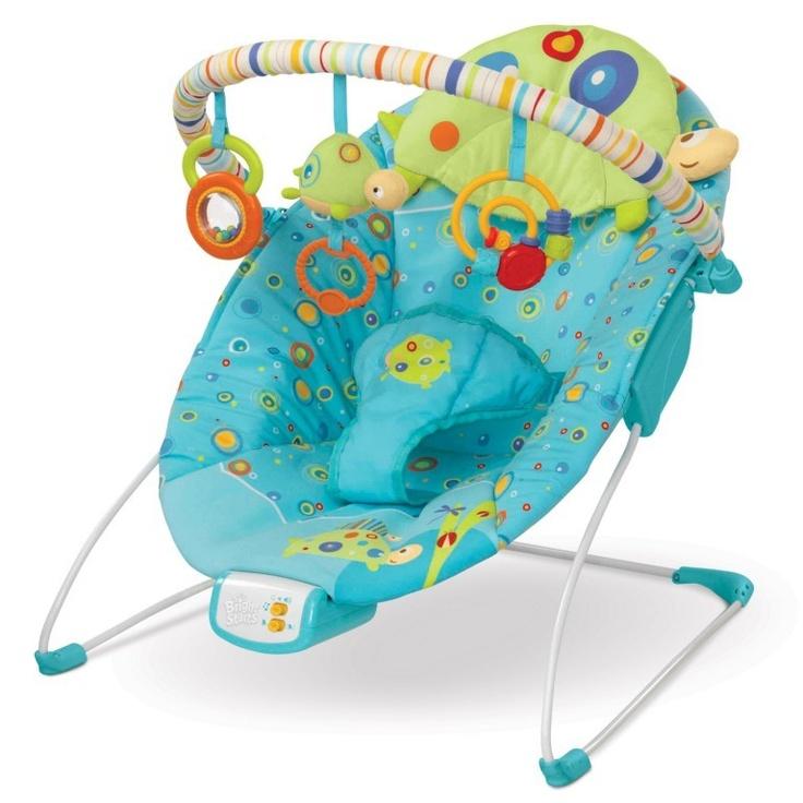 La hamaca Teensy Turtle de Bright Starts es ideal para bebés desde el nacimiento hasta los 9kg y tiene vibración para calmar al bebé. Disponible en 1000bebes.com por $40€ (precio en euros)