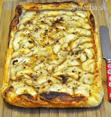Hruškový koláč s medom a levanduľou - Recept