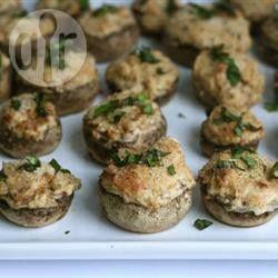 Cogumelos recheados com queijo @ allrecipes.com.br