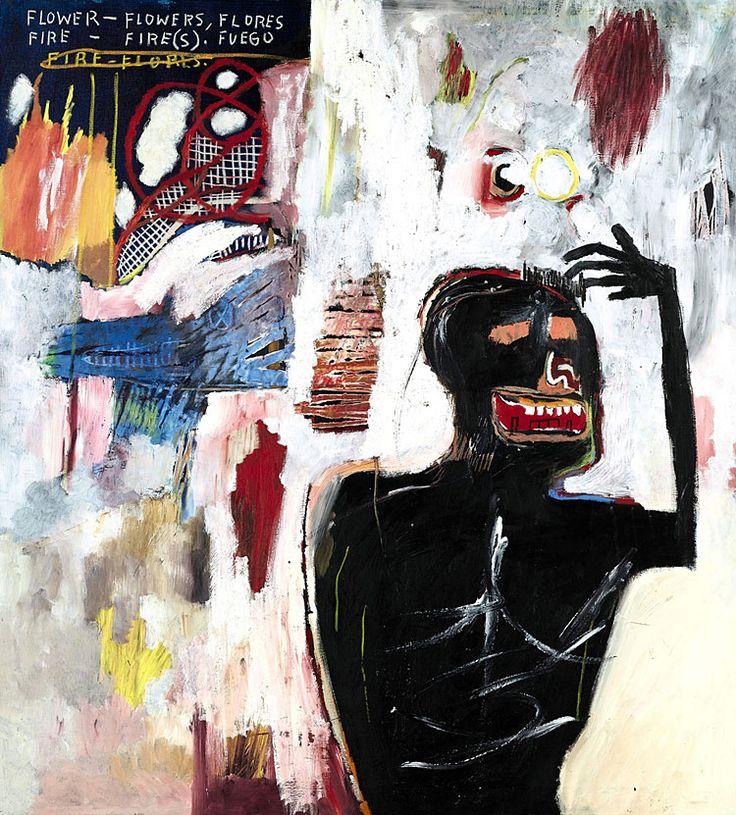 "Jean-Michel Basquiat, ""Fuego Flores"" (1983) | BLOUIN ARTINFO"