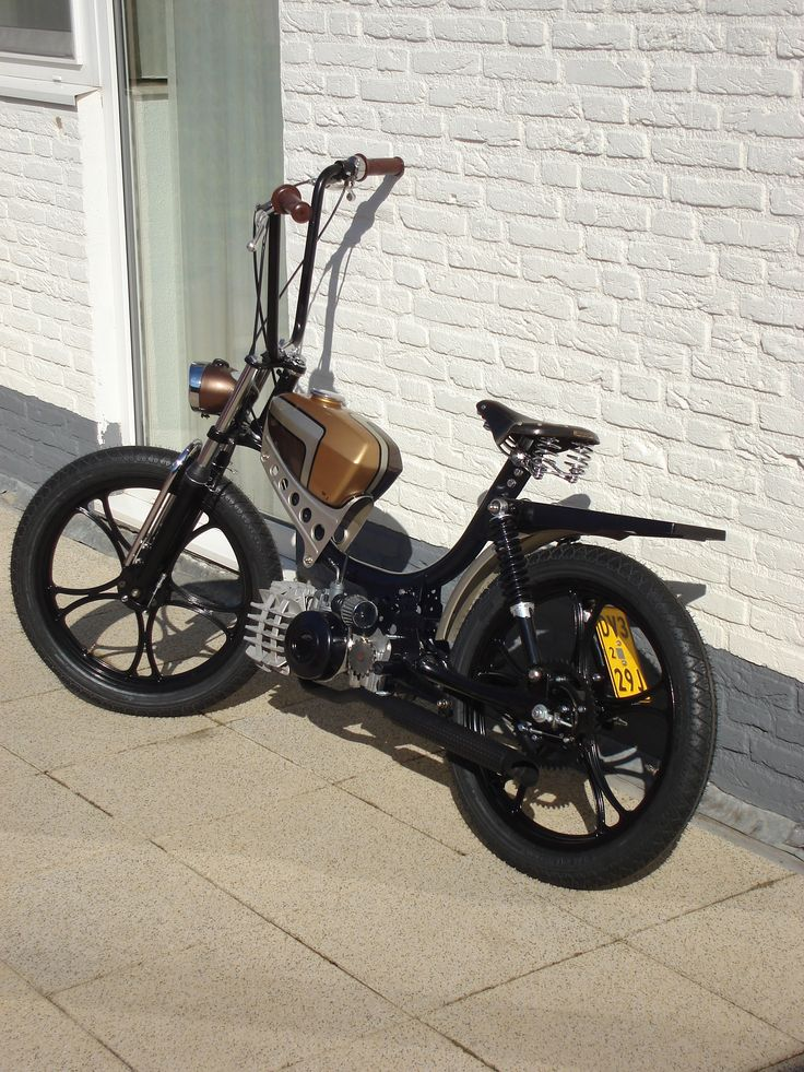 Moped bobber Puch pinto   scooters   Pinterest   Mopeds ...  Moped bobber Pu...