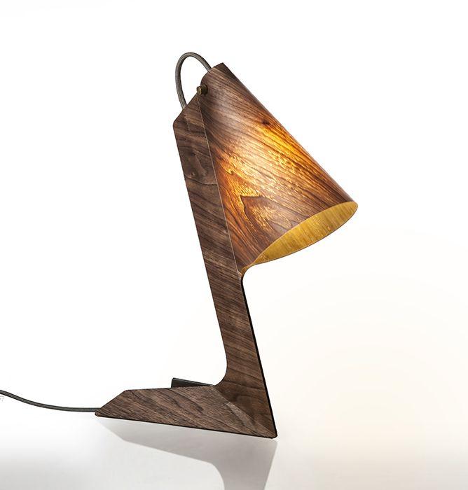 Handmade Veneer Lighting High End Design Table By Arielzuckerman