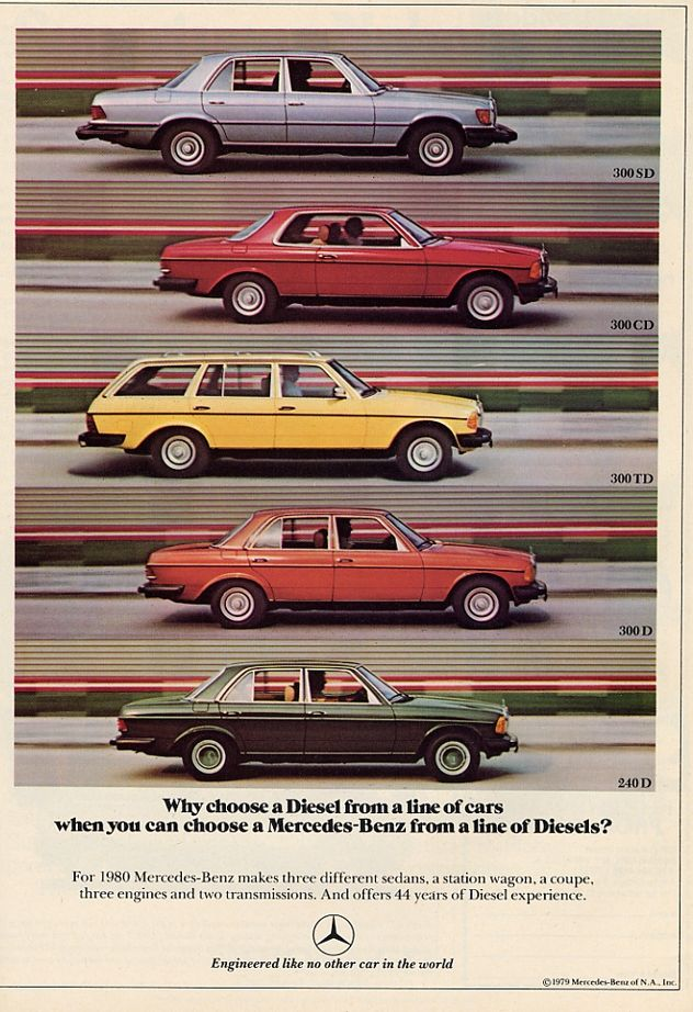 1980 Mercedes-Benz Diesels - Productioncars.com