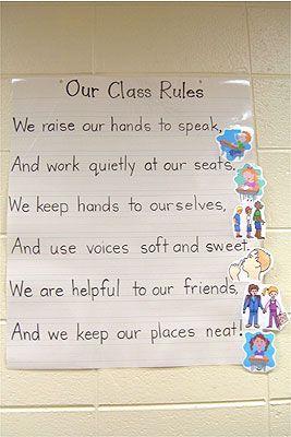 Kindergarten Classroom Rules :)
