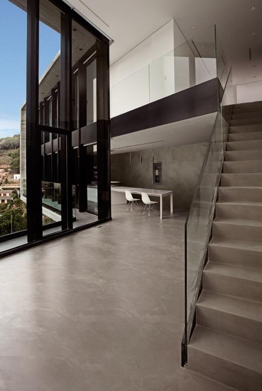 Pavimenti e pareti in cemento