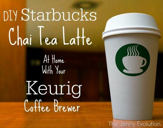 DIY Starbucks Tazo Chai Tea Latte Recipe with a Keurig coffee brewer | The Jenny Evolution